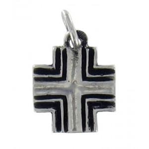 Petite croix carrée rayée Toulhoat