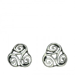 Earrings openwork triskel 2.5g