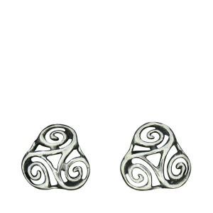 Earrings openwork triskel 2.5g