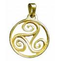 Toulhoat Circled triskel pendant