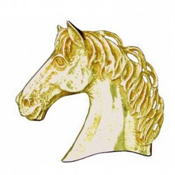 Toulhoat Horse's head brooch