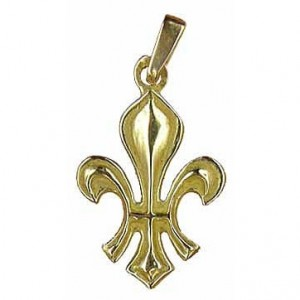 Toulhoat Small lily pendant