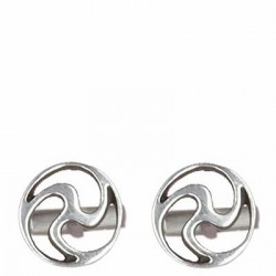 Thick intended triskel 3 cufflink