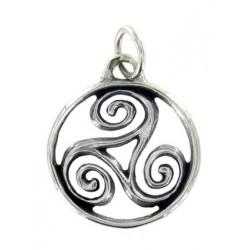 Toulhoat Medium-sized circled triskel pendant