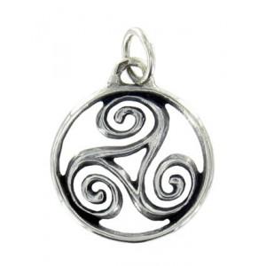 Toulhoat Medium-sized circled triskel pendant