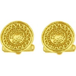 Toulhoat Celtic shield cufflink