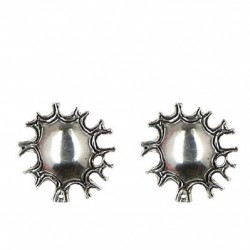 Sun earrings button