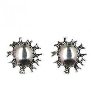 Sun earrings button
