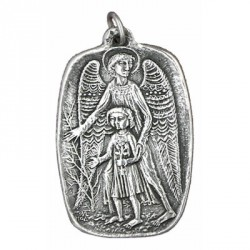 Big guardian angel medal