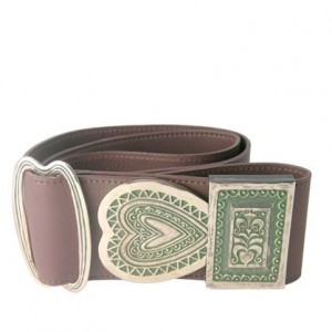 Toulhoat Gouriz (brown leather belt bronze buckle)
