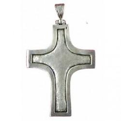 croix pectorale à rebord lisse, dos losangé