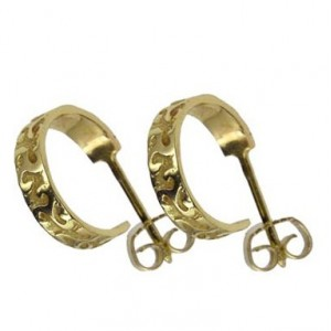 Toulhoat Creole triskel earrings button