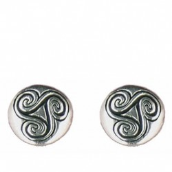 Round triskel earrings button