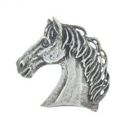 Toulhoat Big horse's head brooch