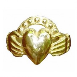 Big sized heart and hands ring