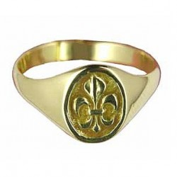 Toulhoat Medium-sized lily flower signet ring