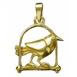 Toulhoat Perched bird pendant