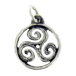 Toulhoat Small circled triskel pendant