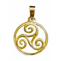 Circled triskel pendant