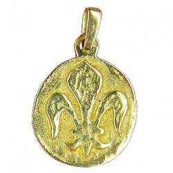 Toulhoat Round lily medal pendant