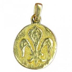 Pendentif lys Médaille ronde Toulhoat
