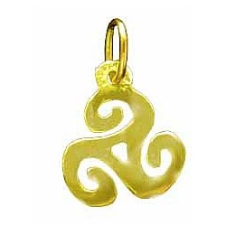 Toulhoat Tiny triskel pendant