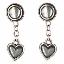 Heart earrings pendants