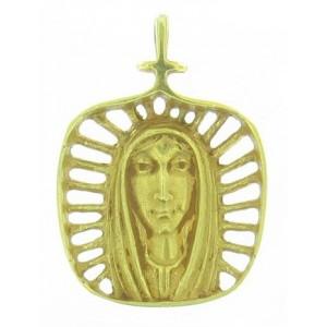 Médaille Toulhoat Vierge rayonnante ajourée