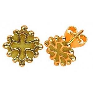 Toulhoat Oc cross earrings button