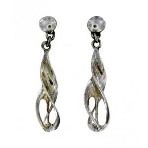 Openwork torque earrings pendants