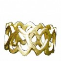 Toulhoat Chain of hearts ring