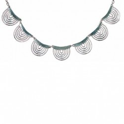 Toulhoat Spiderweb necklace 7 elts