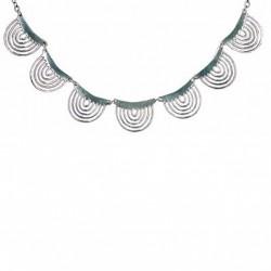 Toulhoat Spiderweb necklace 7 elts