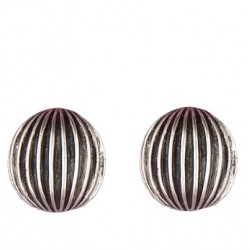 Accordion earrings button