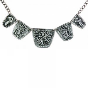 Toulhoat Bench of flowers necklace