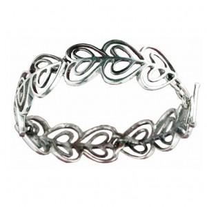 Bracelet Toulhoat petits cœurs 4 elts