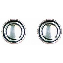 Smooth earrings button 9 mm