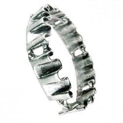 Toulhoat Pleated bracelet 6 elts 185cm