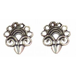 Finial earrings button