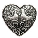 Broche Toulhoat cœur 2 oiseaux