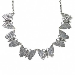 Toulhoat Butterfly necklace 6 elts