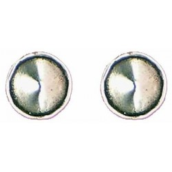 Smooth cone earrings button