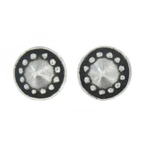 Beaded cone earrings button