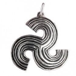 Toulhoat Medium-sized stripped triskel pendant
