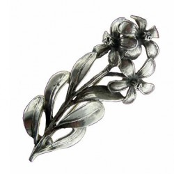 Toulhoat 3 flowers brooch