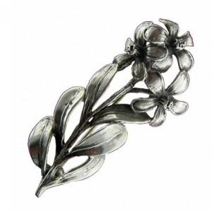 Toulhoat 3 flowers brooch