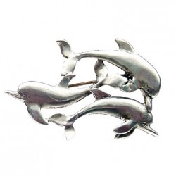 Toulhoat Small dolphins brooch