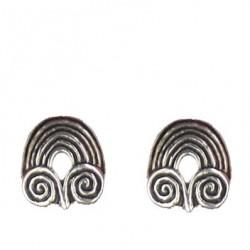 Ram's horn earrings button