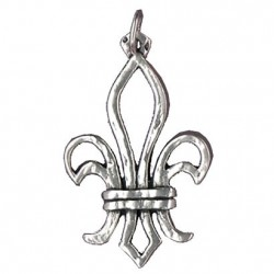 Toulhoat Openwork lily pendant