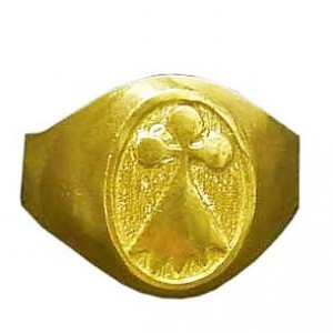 Toulhoat Ermine signet ring